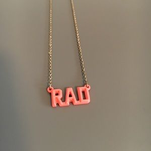 Rad Nameplate Thin Gold Necklace - Vintage